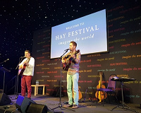 Paul Henry and Brian Briggs at the Hay festival